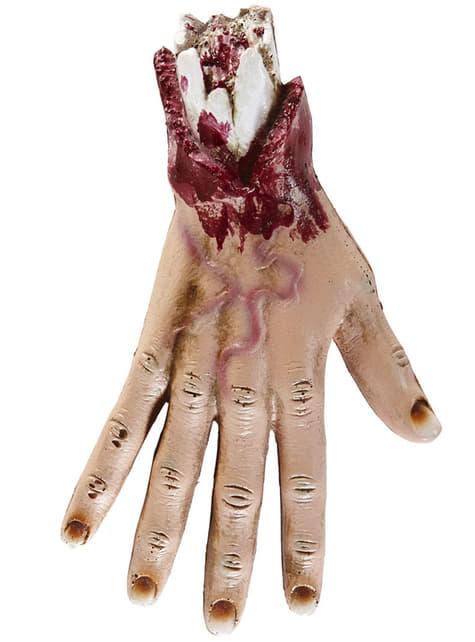 Figura decorativa de mano amputada