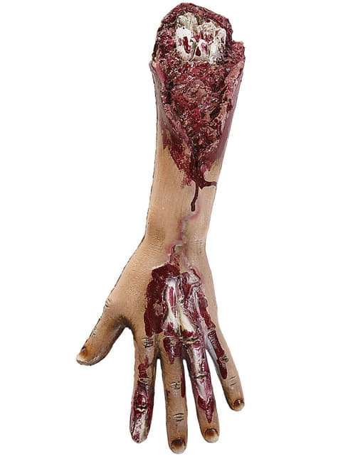 Figura decorativa de brazo amputado
