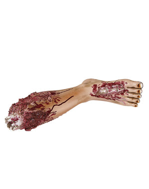 Figura decorativa de pierna sangrienta