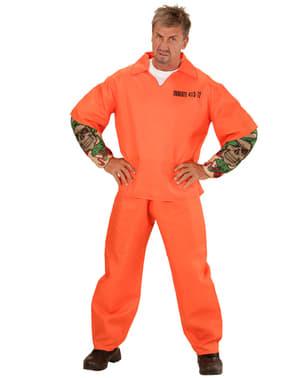 Farlig Innsatt Kostyme Plus Size Mann