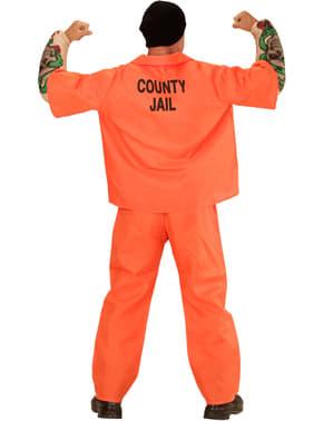 Costume da prigioniero pericoloso per uomo taglia grande
