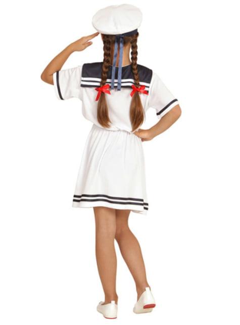 Fato de marinheira adorável para menina
