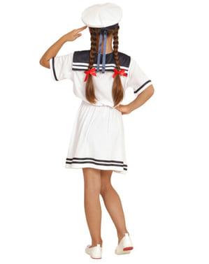 Strój urocza pani marynarz dla dziewczynki