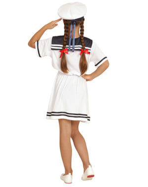Niedliche Matrosin Kostüm für Mädchen