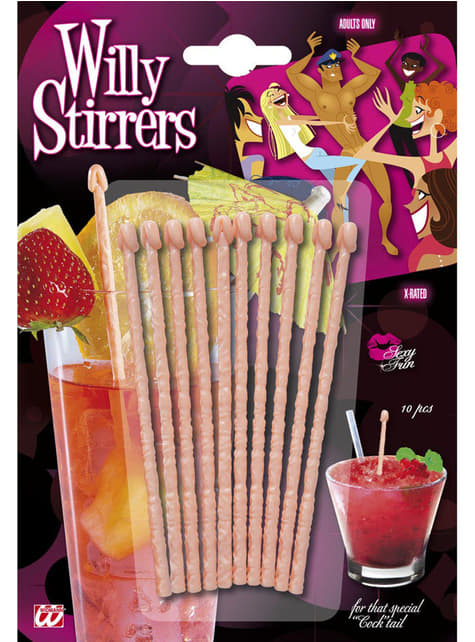 Penis Drink Stirrers