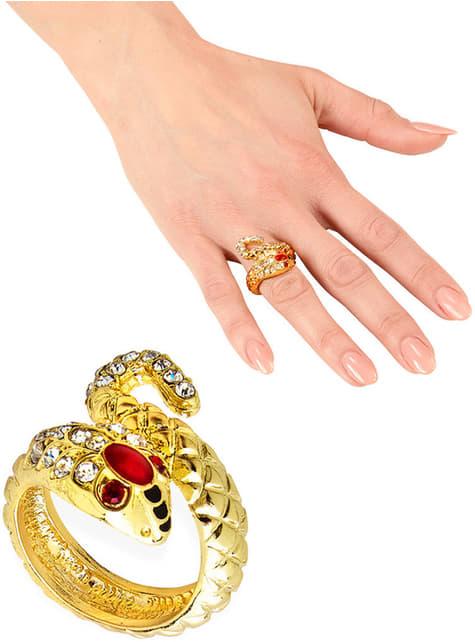 Anillo serpiente dorado para mujer
