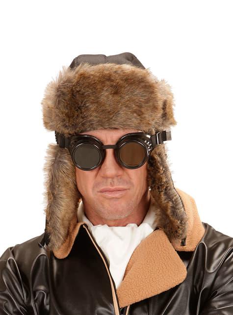 Okulary pilot retro dla dorosłych