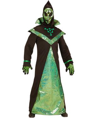 Alien Kostüm schwarz-grün