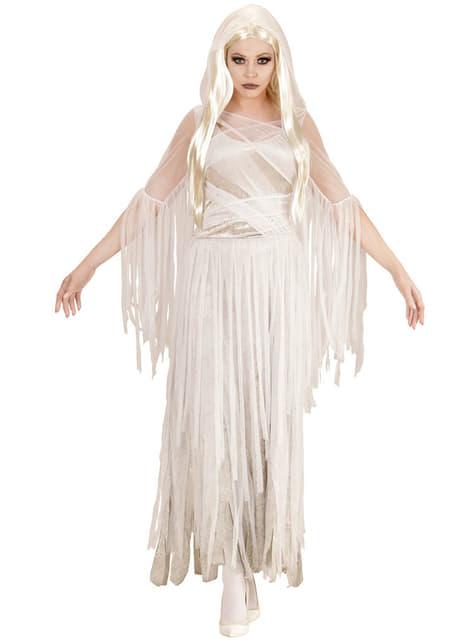 Disfraz de espíritu fantasmal para mujer