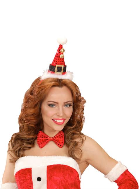Set de mini sombrero y pajarita Papá Noel para adulto - para tu disfraz