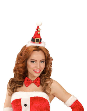 Set mini cappellino e papillon Babbo Natale per adulto