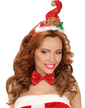 Set mini cappellino e papillon natalizio per adulto