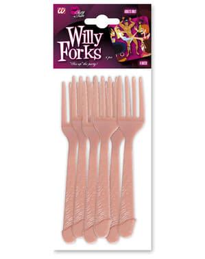 6 Tenedores con forma de pene
