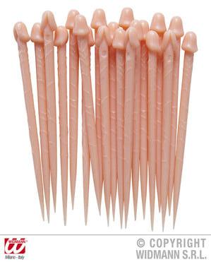 Peniksen muotoiset hammastikut