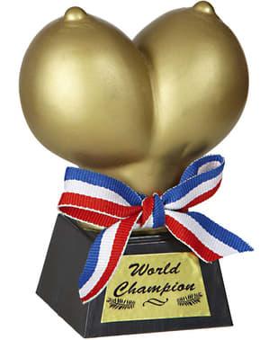 Bröst trofé i guld