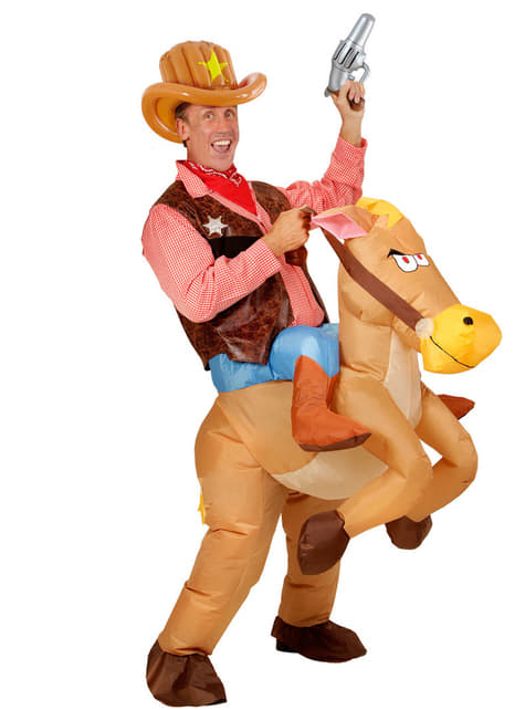 Sombrero de cowboy hinchable para adulto - para tu disfraz