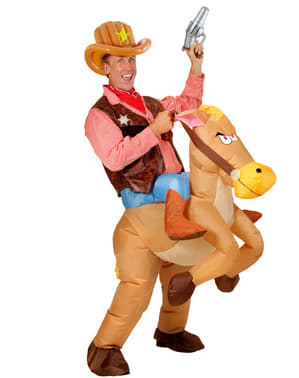 Huvudbonad cowboy uppblåsbar för vuxen