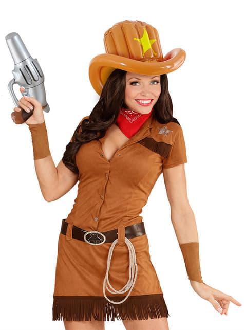 Sombrero de cowboy hinchable para adulto - original