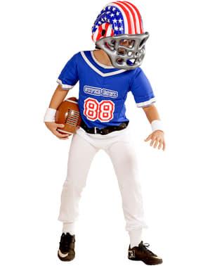 Американската американска футболна каска на момчето