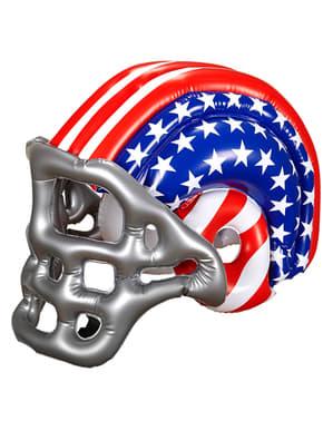 Opblaasbare american football helm USA voor volwassenen