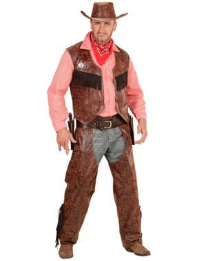 Fato de cowboy implacável para homem tamanho grande