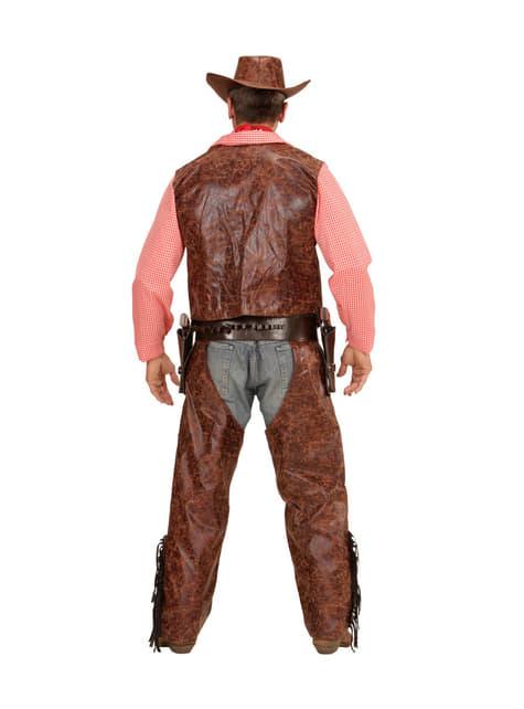 Disfraz de cowboy implacable para hombre talla grande - hombre