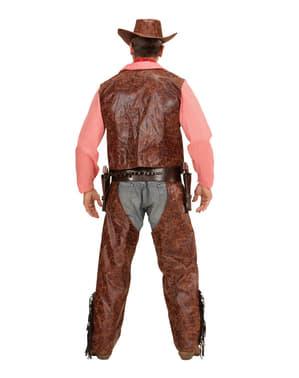 Wraakzuchtig cowboykostuum voor mannen grote maat