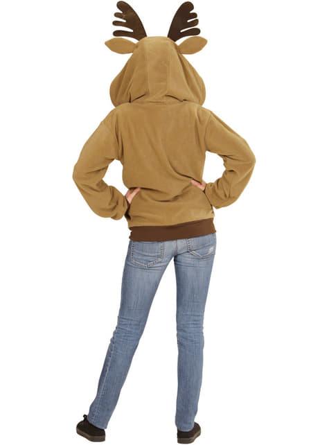 Suéter de rena divertida para adulto