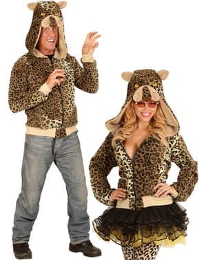 Felpa leopardo amichevole per adulto