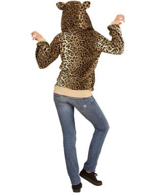 Sweater met vriendelijk luipaard voor volwassenen