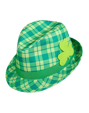 Sombrero irlandés de cuadros para adulto