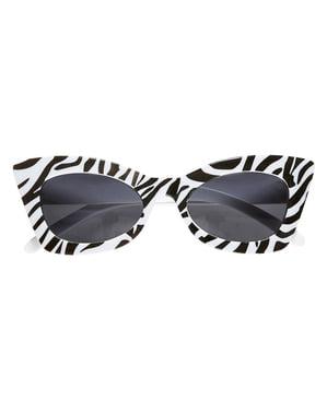 Óculos de zebra retro para adulto
