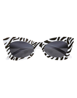 Retro Zebra Solbriller Voksen