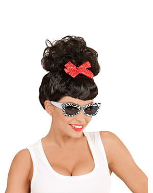 Gafas de cebra retro para adulto