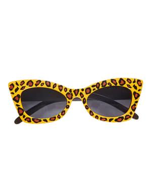 Lunettes léopard retro adulte