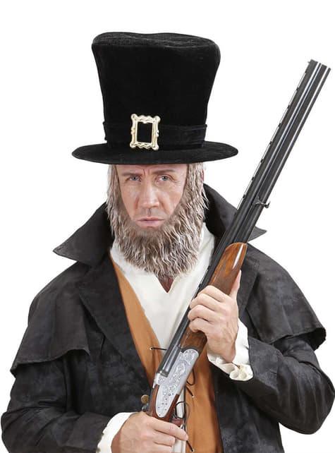 Sombrero negro con barba para hombre - original