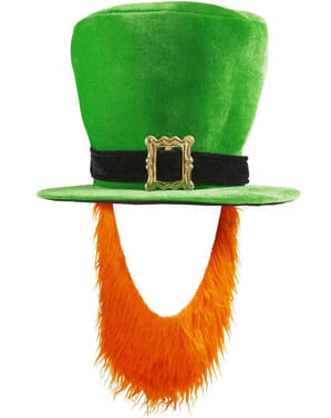 Pălărie cu barbă de Leprechaun pentru bărbat