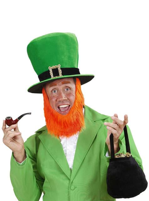 Sombrero con barba de Leprechaun para hombre - para tu disfraz