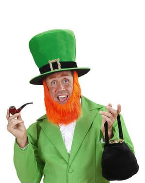 Leprechaun Hatt med Skjegg Mann