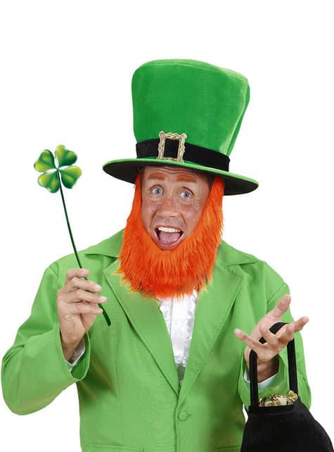 Chapéu com barba de Leprechaun para homem
