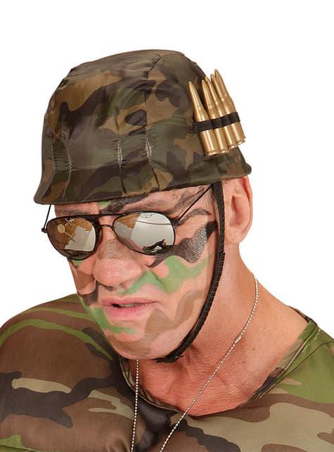 Casco de soldado con balas para adulto - para tu disfraz