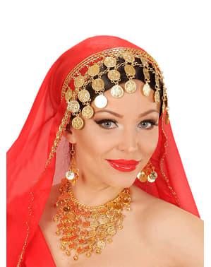 Set met oorbellen en ketting van zigeuner voor vrouw