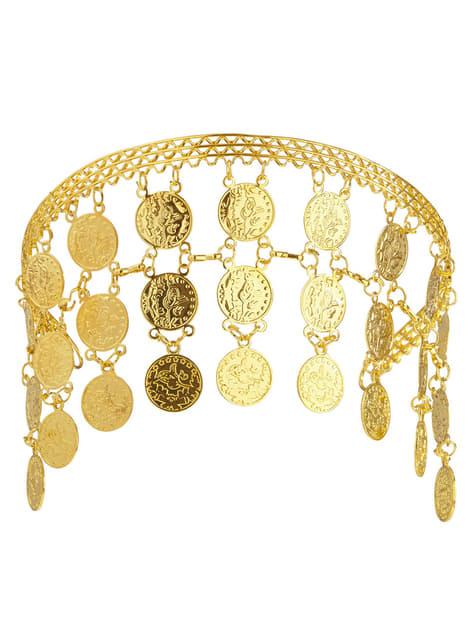 Ozdoba ze złotymi monetami damska