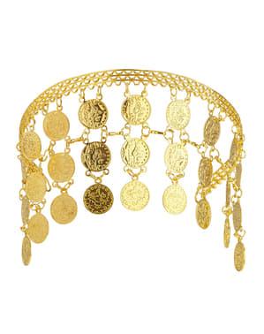 Tocado de monedas de oro para mujer