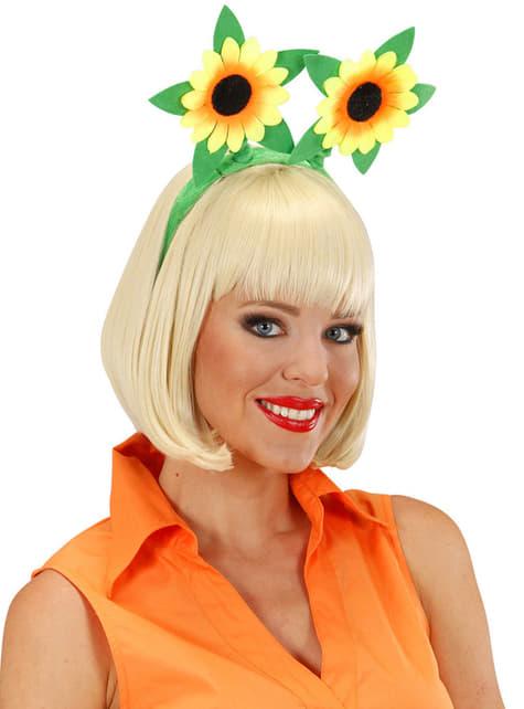 Diadema con girasoles - para tu disfraz