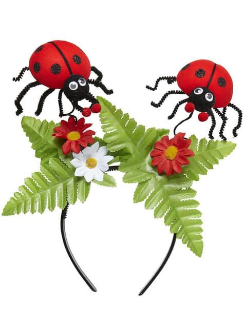 Adult's Ladybirds in Nature Headband