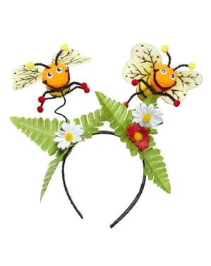 Hårbøjle med bier til voksne