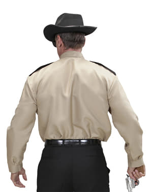 Camisa de xerife para homem