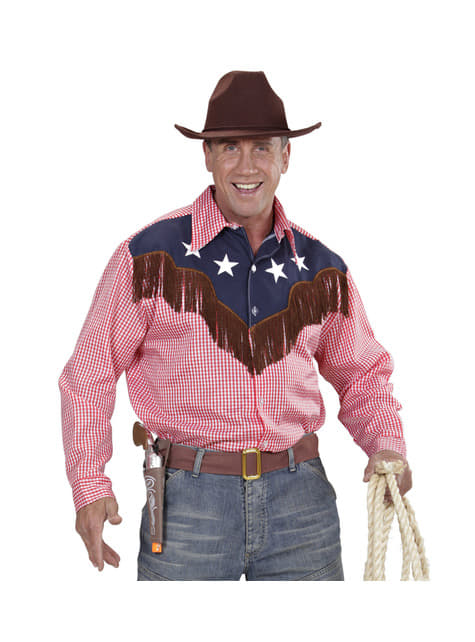 Camisa de vaquero de rodeo para hombre talla grande