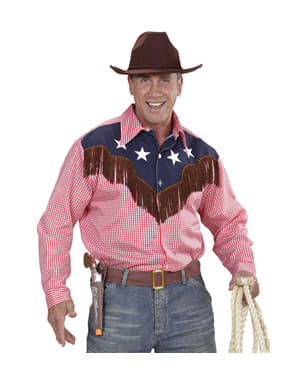 Чоловіча плюс розмір родео-ковбойської сорочки